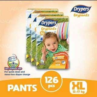 Drypers Drypantz XL42 x 3packs