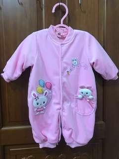 🚚 超可愛Momo 寶寶baby粉色格子兔兔連身裝    台灣製造。品質保證👍👍