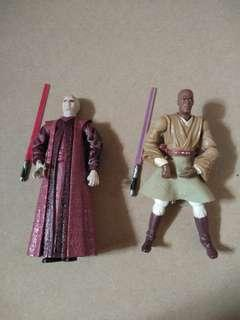 Star Wars Mace Windu and Emporer