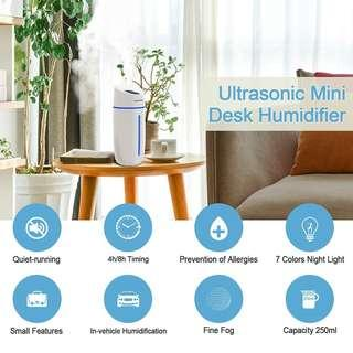 🚚 Air Humidifier Car office home USB Humidifiers Night Light Portable Auto Diffuser Purifiers