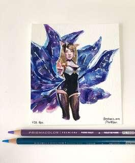KDA Ahri Painting for sale!!💖