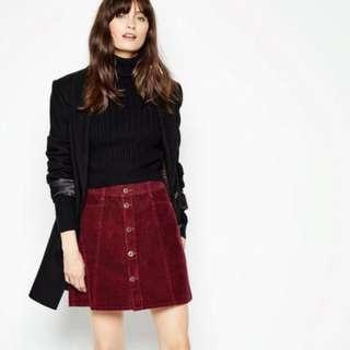 Jack Wills Capenhurst Corduroy Damson Skirt #endgameyourexcess