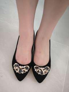 Eliza Litz Black Velvet Heels