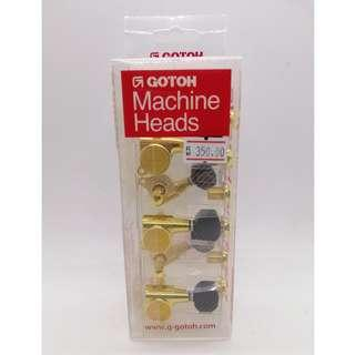 SG381 Gotoh Machine Heads (Right 6-inline - Gold)