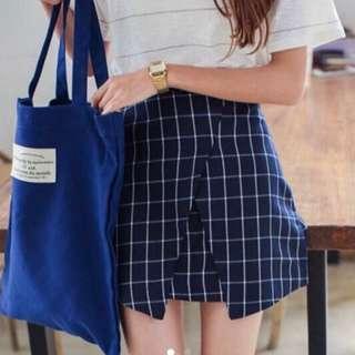 BNIP Overlap Origami Grid Skirt #endgameyourexcess