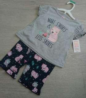 NEW 18M  Authentic Carter's 'Just For You' Girl's 2 Pcs Set