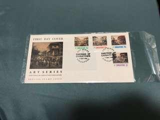 🚚 (Out of Print) First Day Cover Stamps (Painting of Chinatown Singapore)