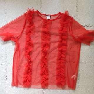 MONKI 紅色衫