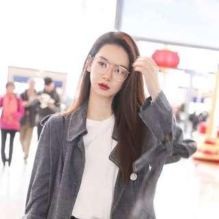 🔥限量預購款🔥大框金屬邊顯瘦造型眼鏡