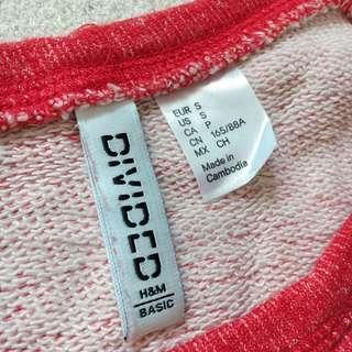 紅色短衛衣質地面衫