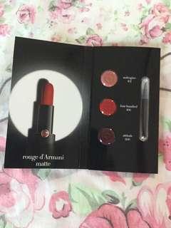 包郵Giorgio Armani 唇膏試用 rouge d Armani matte sample