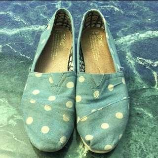 TOMS 天空藍點點 懶人鞋