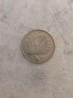 Old Singapore Coin 50 cent