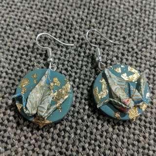 Origami Swing Earrings Handmade