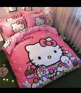 Hello Kitty Bedsheet Set