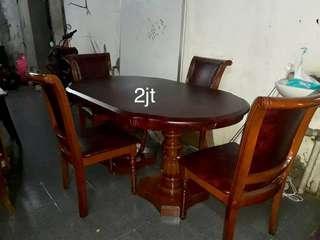 Meja makan jati 4kursi