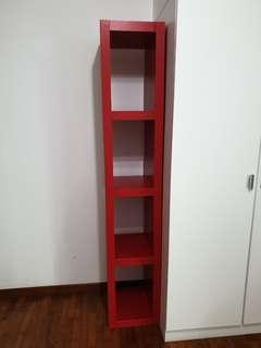 🚚 IKEA Tall and Slim red shelf
