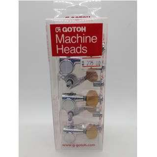 SG381 Gotoh Machine Heads (Right 6-inline) - Chrome