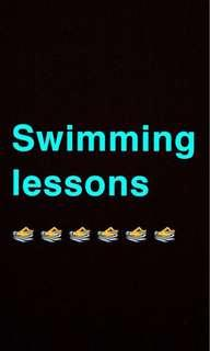 Swimming lessons 🏊