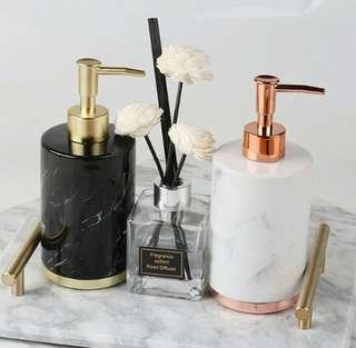 Nordic Marble Bathroom Soap Dispenser