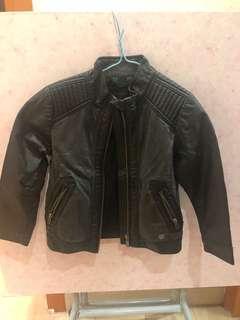 Kids faux Leather Jacket 2-3t