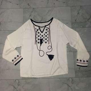Boho White Top by MyRubylicious