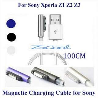 🚚 LED Magnetic USB Charging Cable Sony Xperia Z1 Z2 Z3 Z4