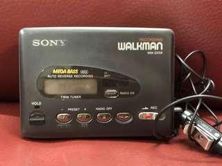 sony recording walkman wm-gx58 Am/FM cassette player