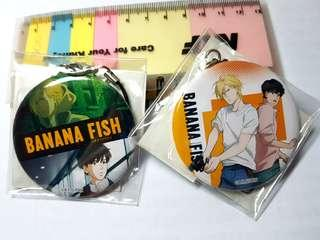 Banana Fish Metal Keychain
