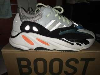 "Adidas Yeezy Boost 700 Wave Runner ""Solid Grey"" premium mirror, like ori. size 42"