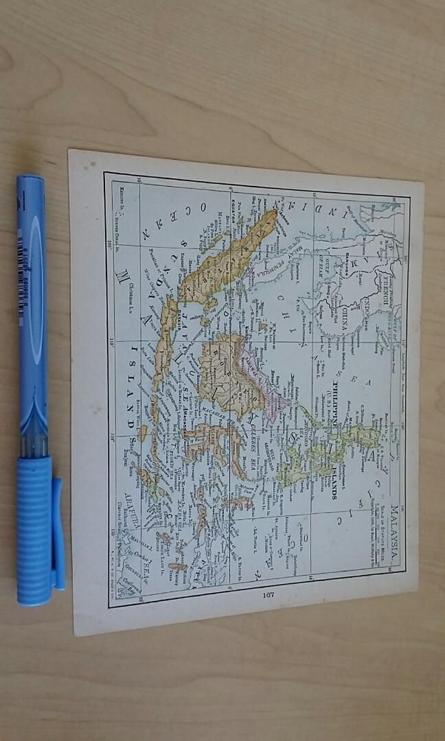 1897 South East Asia map, singapore malaysia, Books ...