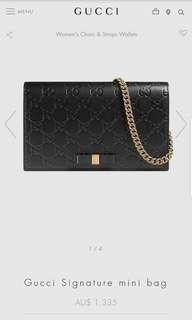 Gucci bag swap