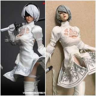 [W/ Body]Nier Automata 2B DLC Color by Super Duck Set026 [phicen / TBLeague / Hot Toys]