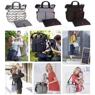 Skip Hop Duo Signature Carry All Travel Diaper Bag Tote with Multipockets  媽媽儲物袋(送換片墊)