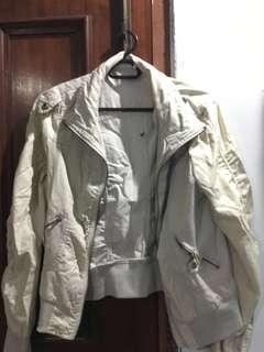 Crop white Jacket