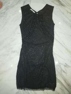 Full Beaded Black Dress