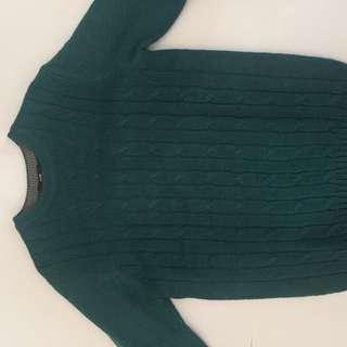 Korean green Knit sweater