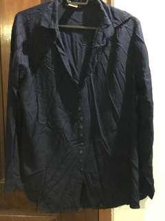 Dark blue formal blouse