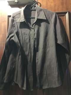 Brown formal blouse