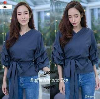 Ruffle Kimono Top