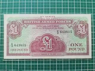 🚚 British Armed Forces Special Voucher 4th series 1 Lb
