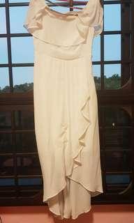 Flowy Off-Shoulder Dress || comes with its original belt