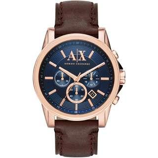 Armani Exchange Blue Chronograph Watch