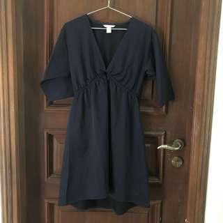 hnm navy dress