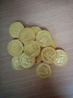 Chocalate gold coins