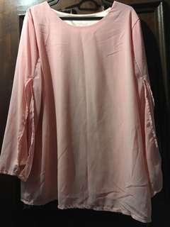 Pink longsleeve Blouse