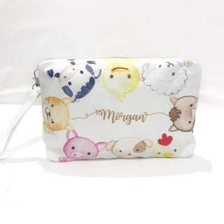 BNWT Baby Travel Nappy Wallet /'Woodland Animals/'  Lined Shower Gift Nursery