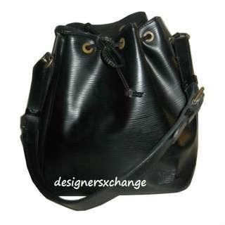 Louis Vuitton Black Epi Leather Petit Noe (Small Fisherman) Bag
