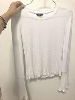 🚚 Factorie White Long sleeved top