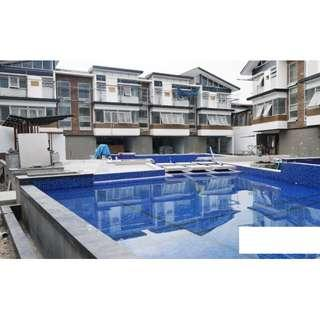 House and Lot with SWIMMING POOL For Sale Quezon City QC 5 BEDROOMS Brand New Balintawak Townhouse RFO Ready For Occupancy with GARDEN